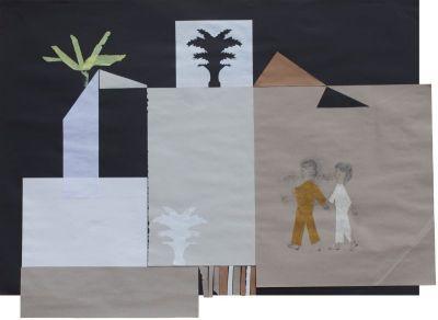 """Natascha Pötz – """"ein Haus im Sinn"""", Zeichnung & Collagen, Studio, 30.08. – 21.10.2018"""